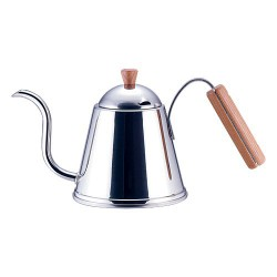 Yoshikawa Wood Handle Coffee Pour Over Kettle
