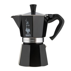 Гейзерна кавоварка Bialetti moka express black 6 cups