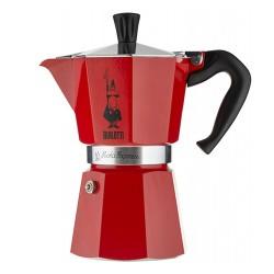 Гейзерна кавоварка Bialetti moka express red 6 cups