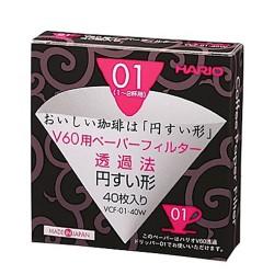 Фильтры бумажные Hario V60 01 Paper Filters