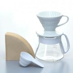 Набор Hario V60 01 Ceramic and Server White