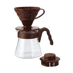 Набор Hario V60 02 Dripper and Server Brown