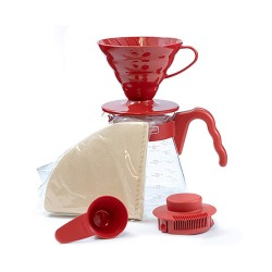 Набор Hario V60 02 Dripper and Server Red