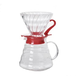 Набор Hario V60 02 Glass and Server Red